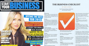 Start Your Business magazine feature image